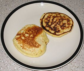 Flat, like pancakes (via Wikimedia Commons)